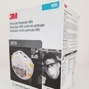 3M N95 mask respirator 8210. 20 masks in this box